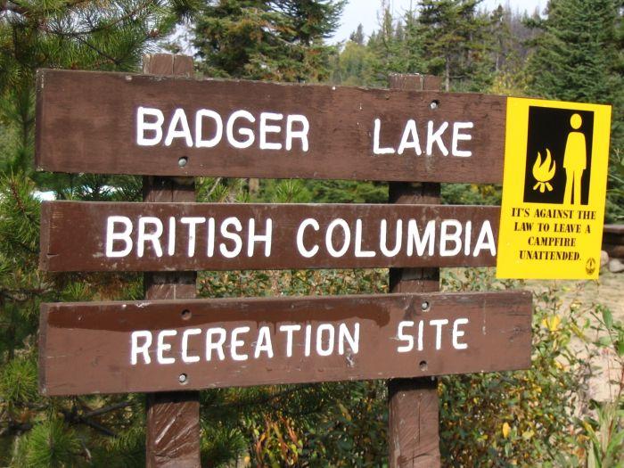Badger lake bb2 for British columbia fishing license